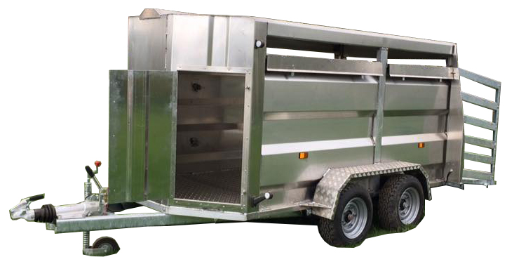 single deck livestock trailers