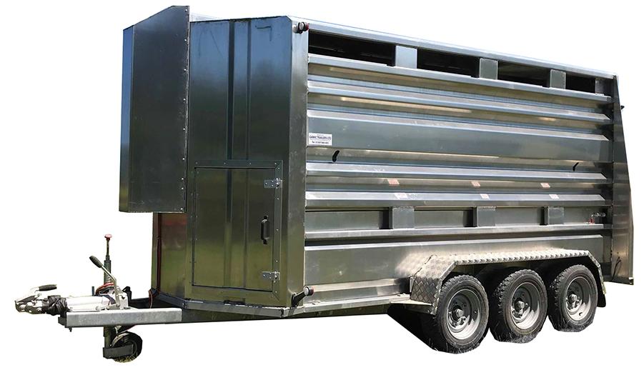 hudraulic deck livestock trailer